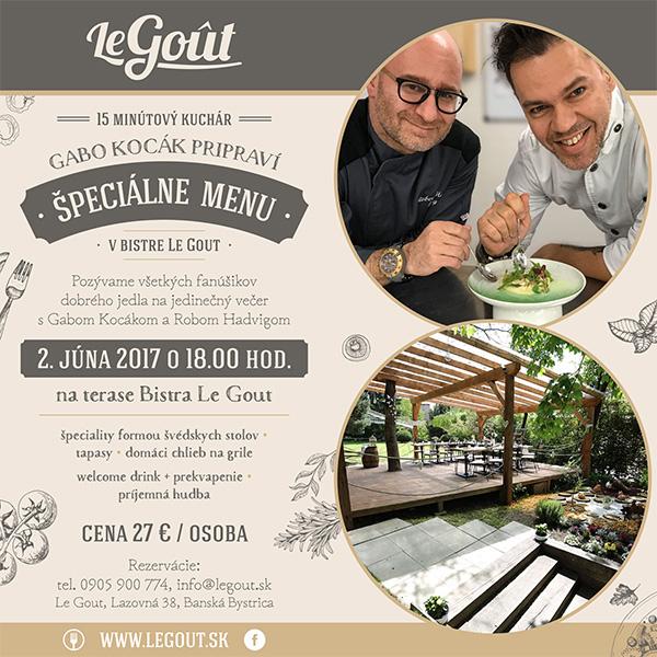 Špeciálne menu od Gaba Kocáka